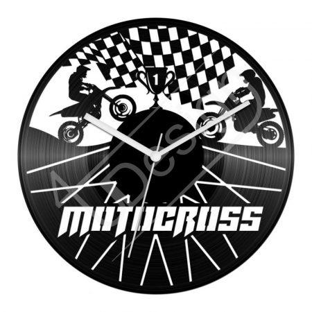 Motocross hanglemez óra