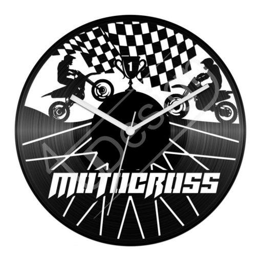 Motocross hanglemez óra - bakelit óra