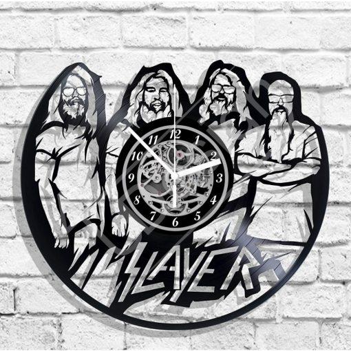 Slayer hanglemez óra - bakelit óra