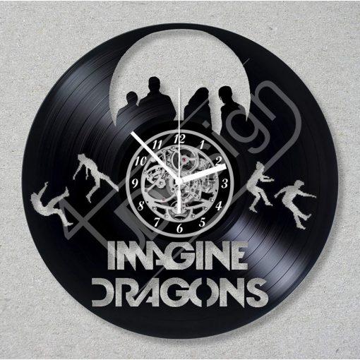 Imagine Dragons hanglemez óra - bakelit óra
