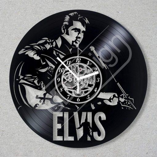 Elvis hanglemez óra - bakelit óra