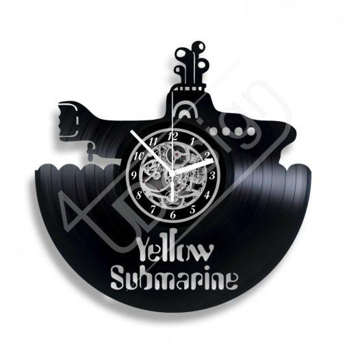 Sárga tengeralatjáró Beatles hanglemez óra - bakelit óra