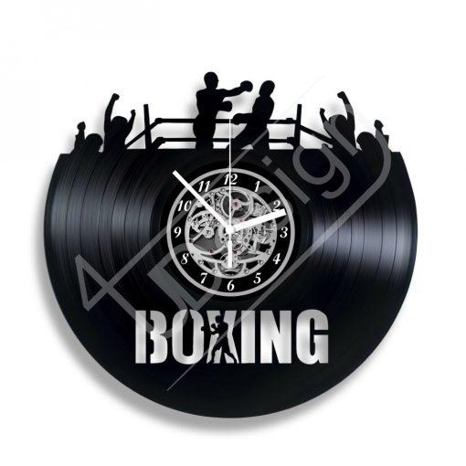 BOXING ökölvívás hanglemez óra - bakelit óra