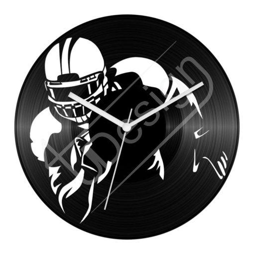 NFL amerikai focis hanglemez óra - bakelit óra