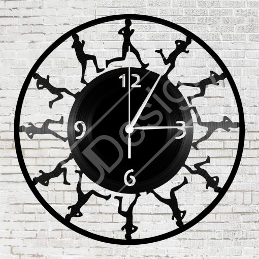 Futók hanglemez óra - bakelit óra