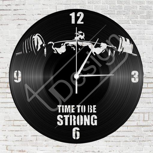 Erőemelős hanglemez óra - bakelit óra