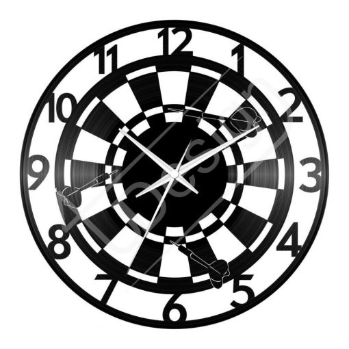 Darts hanglemez óra - bakelit óra