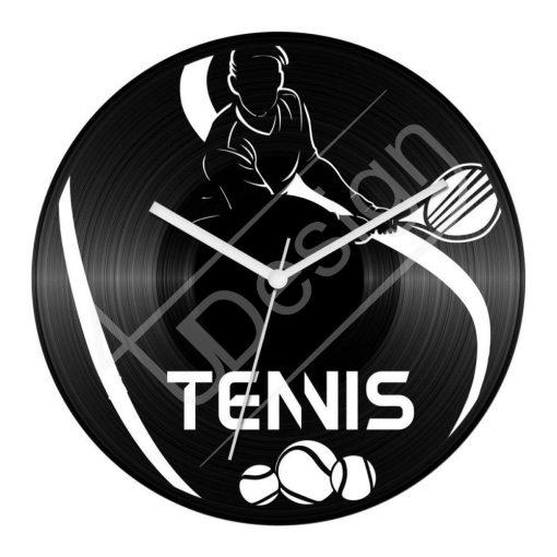 Tenis hanglemez óra - bakelit óra