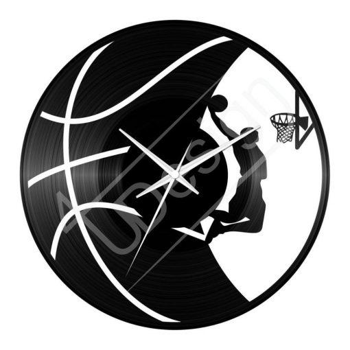 Kosárlabdás hanglemez óra - bakelit óra