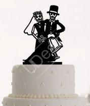 TD09052101- Örökké együtt sziluett esküvői tortadísz