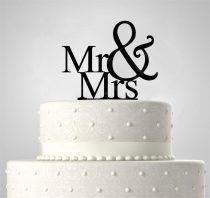 TD5080512 - Mr & Mrs sziluett tortadísz