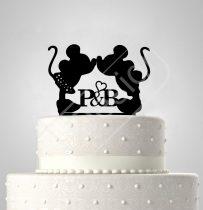 TD5080515 - Mickey & Minnie sziluett tortadísz