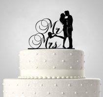 TD508054 - Mr és Mrs, sziluett esküvői tortadísz
