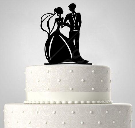 TD508055 - Sziluett esküvői tortadísz