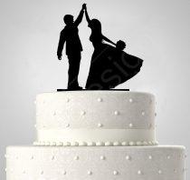TD508056 - Táncoló házaspár, sziluett esküvői tortadísz