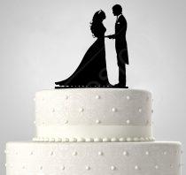 TD508059 - Házaspár, sziluett esküvői tortadísz