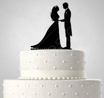 RK-TD508059 - Házaspár, sziluett esküvői tortadísz