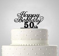 Happy Birthday EGYEDI ÉVSZÁMMAL, tortadísz