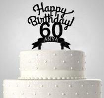 Happy Birthday EGYEDI NÉVVEL ÉS ÉVSZÁMMAL, tortadísz
