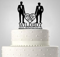 TD6012103 - Mr & Mrs egyedi sziluett esküvői tortadísz