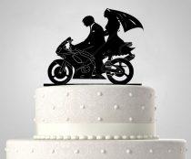 TD6020301 - Motoros sziluett esküvői tortadísz