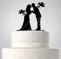 TD6021912 - Ámor, sziluett esküvői tortadísz