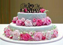 TD6053001 - Basszus kulcsos sziluett esküvői tortadísz