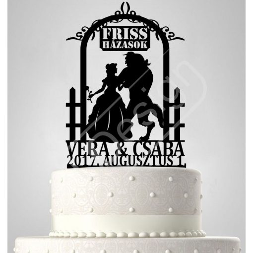 TD6061103 - Sziluett esküvői tortadísz friss házasok