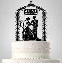TD6061104 - Sziluett esküvői tortadísz friss házasok