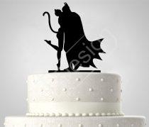 TD7011708 - Batman és Catwoman sziluett esküvői tortadísz