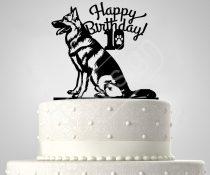 Kutya születésnapi sziluett tortadísz