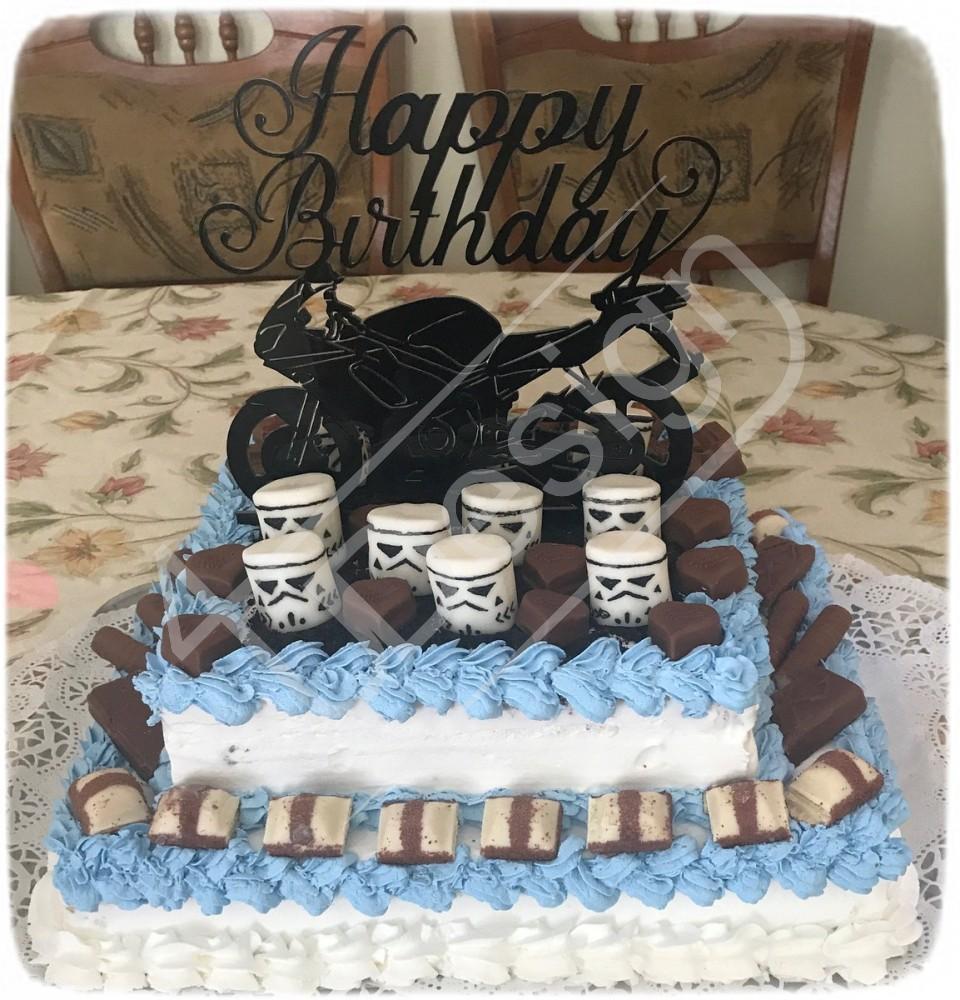 motoros születésnapi képek Motoros sziluett születésnapi tortadísz   Egyedi ajándék és  motoros születésnapi képek