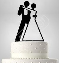 TD7011713 - Modern sziluett esküvői tortadísz
