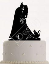 TD7071001 - Batman sziluett tortadísz