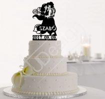 TD70710011 - Aladin és Jázmin sziluett tortadísz