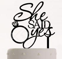TD8052414 - She Said Yes sziluett tortadísz
