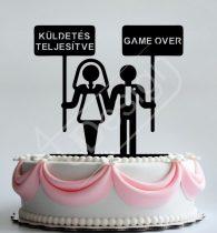 TD8080306 - Vicces sziluett esküvői tortadísz