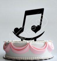 TD8080307 - Hangjegy smile sziluett esküvői tortadísz
