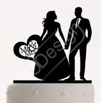 TD808059 - Házaspár, sziluett esküvői tortadísz