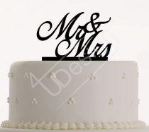 TD9021801- Mr & Mrs sziluett tortadísz