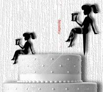 TD9040901 - Lány évszámmal sziluett tortadísz