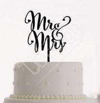 TD9041101 - Mr & Mrs sziluett tortadísz